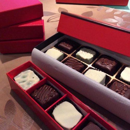 高級チョコレートを作り