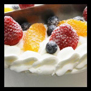 バニラビーンズのケーキ